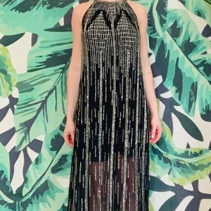 Parker Shane Beaded Gown